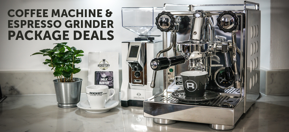 Coffee Machine and Grinder Package Deals for home
