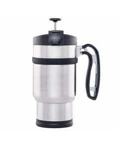 Planetary Design Double Shot with Bru Stop travel French Press - Brushed Steel
