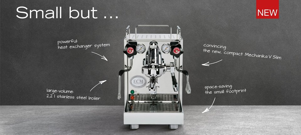 NEW ECM Heidelberg Mechanika Slim Espresso Machine